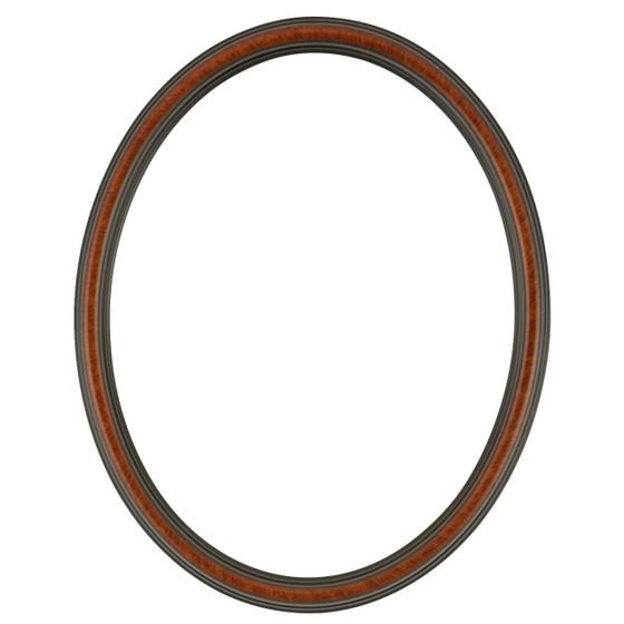 Saratoga Oval Frame # 550 - Vintage Walnut