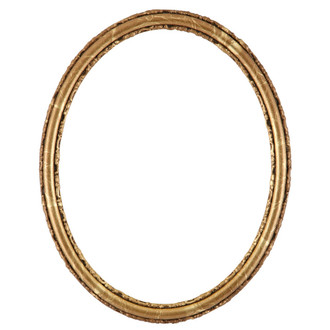 Virginia Oval Frame # 553 - Champagne Gold