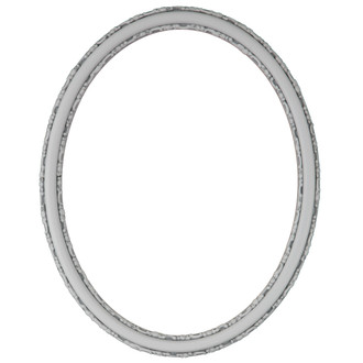 Virginia Oval Frame # 553 - Linen White