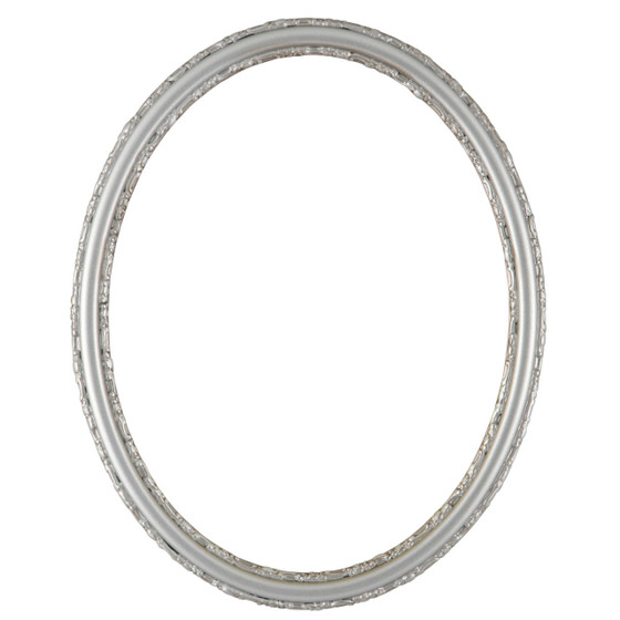 Oval Frame in Silver Shade Finish| Simple Dark Silver Picture Frames ...