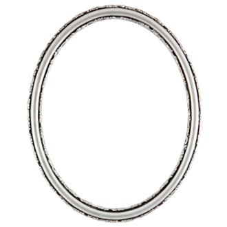 Virginia Oval Frame # 553 - Silver Spray