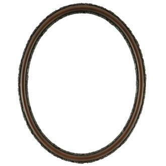 Virginia Oval Frame # 553 - Walnut