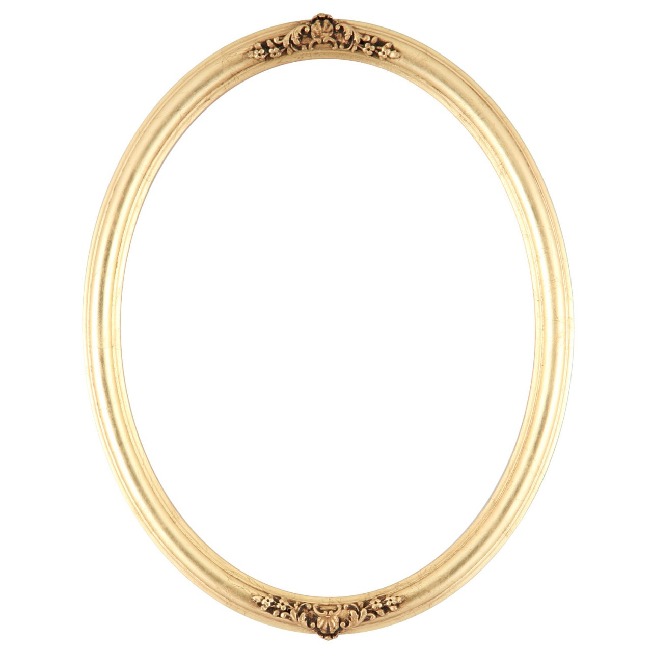 Oval Frame In Gold Leaf Finish Antique Gold Picture Frames With