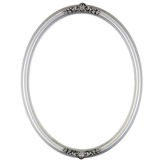 Contessa Oval Frame # 554 - Silver Spray