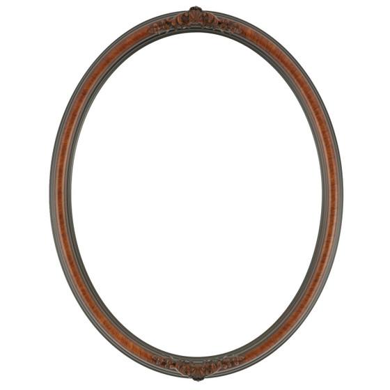 Contessa Oval Frame # 554 - Vintage Walnut