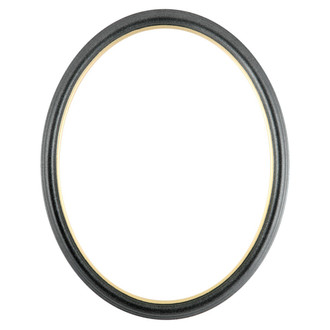Hamilton Oval Frame # 551 - Black Silver with Gold Lip