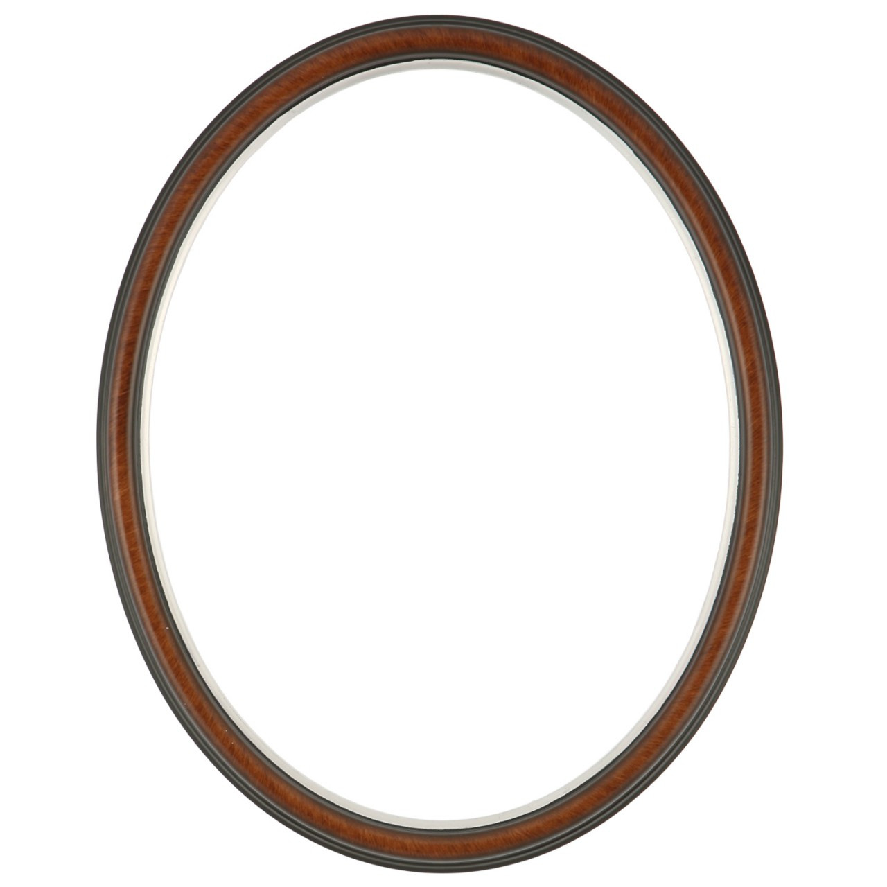 482931df94f0 Oval Frame in Vintage Walnut Finish with Silver Lip