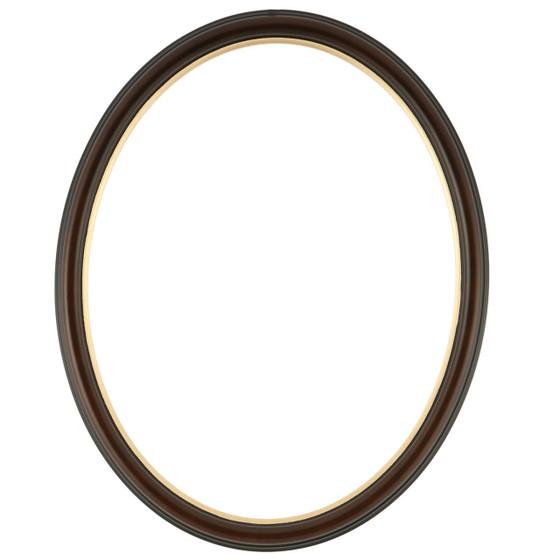 Hamilton Oval Frame # 551 - Walnut with Gold Lip