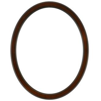Toronto Oval Frame # 810 - Walnut