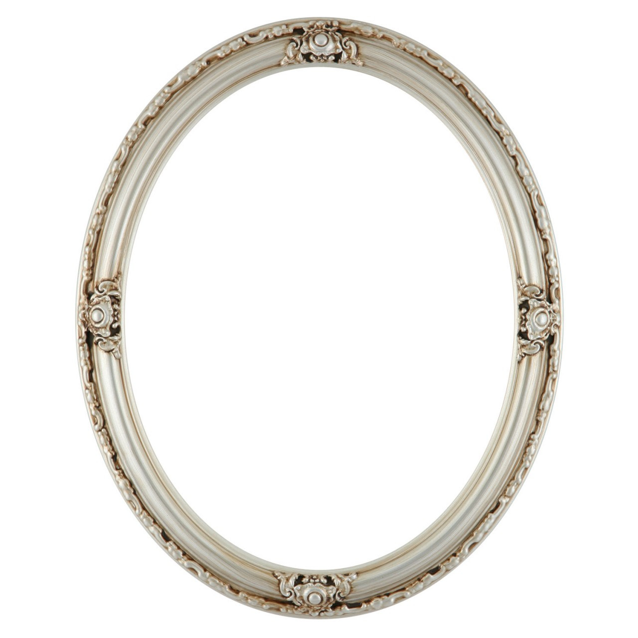 Oval Frame In A Silver Finish Silver Picture Frames With