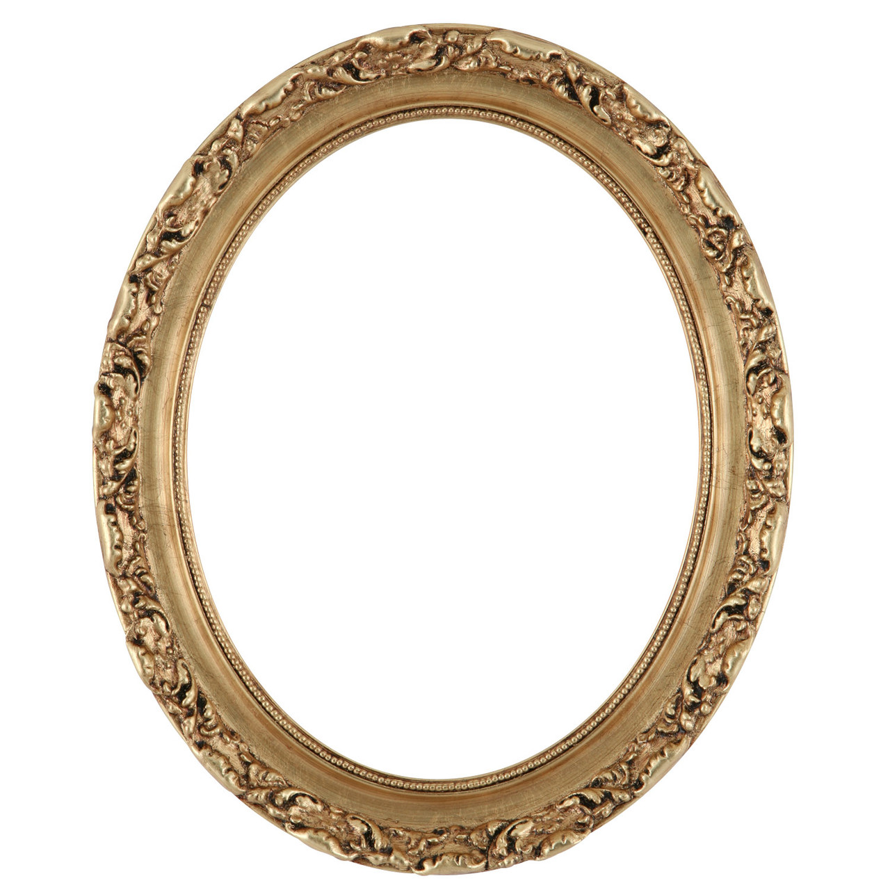 cc2c76a2d8d6 Oval Frame in Gold Leaf Finish
