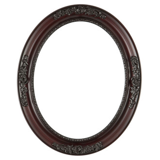 Versailles Oval Frame # 603 - Rosewood