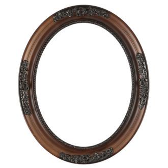 Versailles Oval Frame # 603 - Walnut