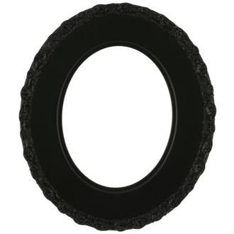 Williamsburg Oval Frame # 844 - Matte Black