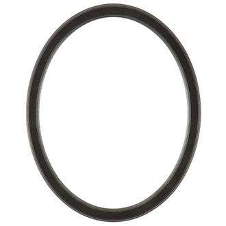 Toronto Oval Frame # 810 - Black Silver