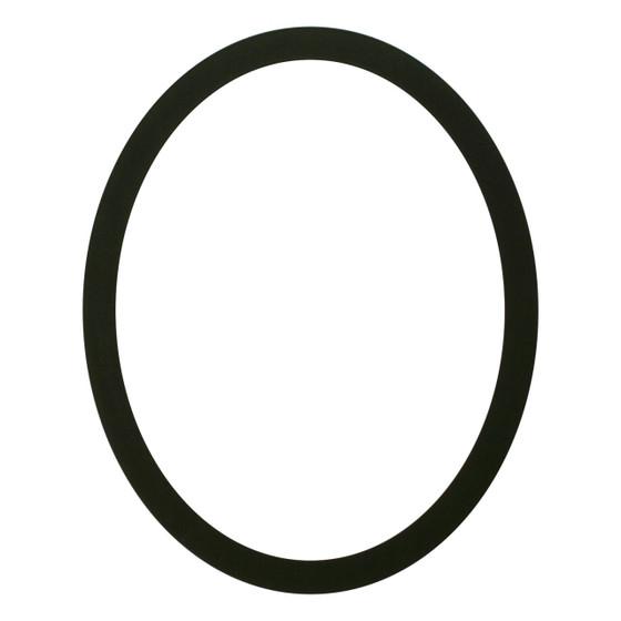 Manhattan Oval Frame # 851 - Matte Black