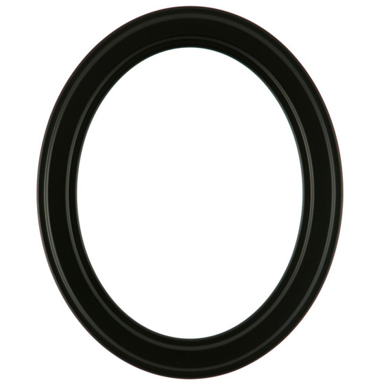 Oval Frame in Matte Black Finish| Simple Black Picture Frames