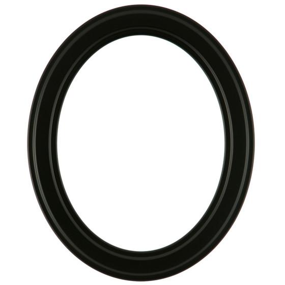 Oval Frame In Matte Black Finish Simple Black Picture Frames