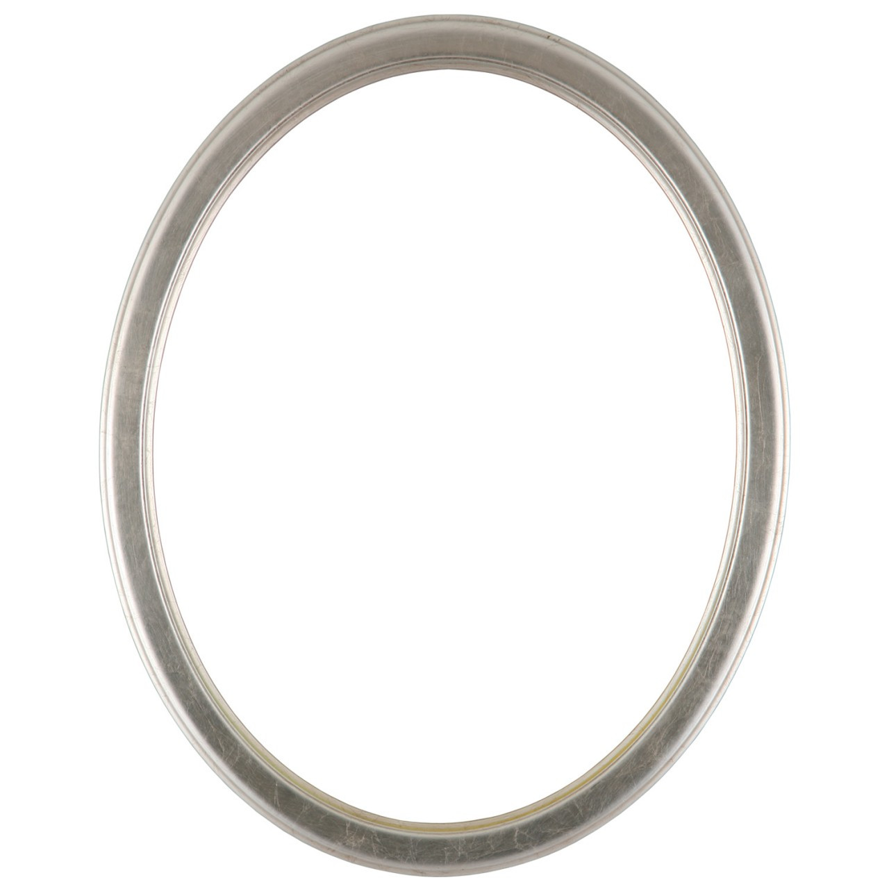 4f821c808d3e Oval Frame in Silver Leaf Finish with Brown Antique