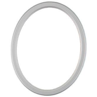 Toronto Oval Frame # 810 - Silver Spray