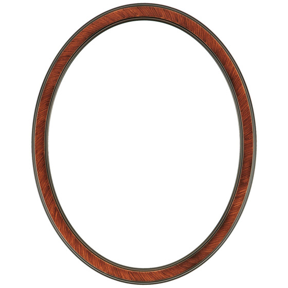 Toronto Oval Frame # 810 - Vintage Walnut