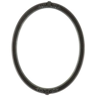 Athena Oval Frame # 811 - Black Silver