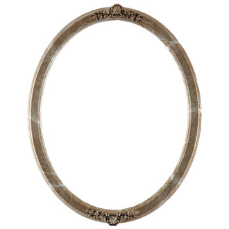Athena Oval Frame # 811 - Champagne Silver