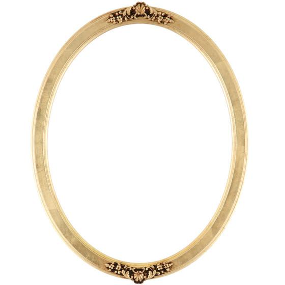 Athena Oval Frame # 811 - Gold Leaf