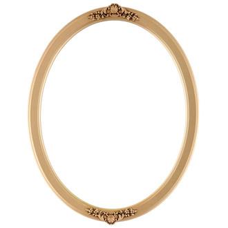 Athena Oval Frame # 811 - Gold Spray