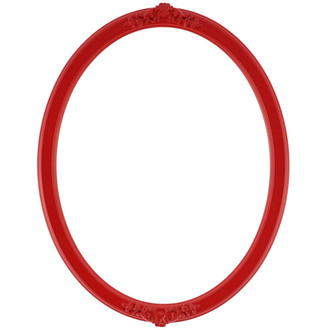 Athena Oval Frame # 811 - Holiday Red