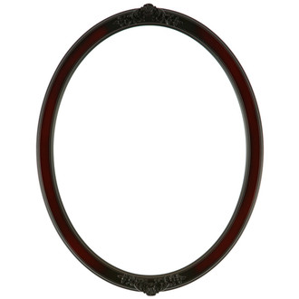Athena Oval Frame # 811 - Rosewood