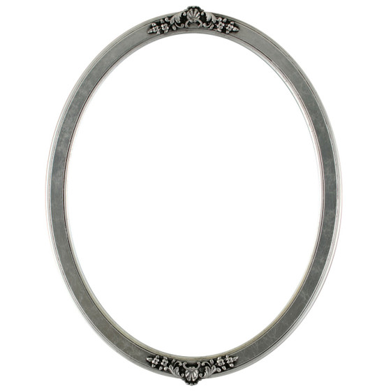 Athena Oval Frame # 811 - Silver Leaf with Black Antique
