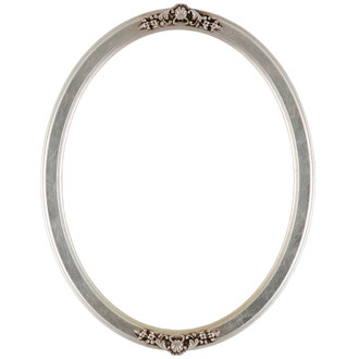 Athena Oval Frame # 811 - Silver Leaf with Brown Antique