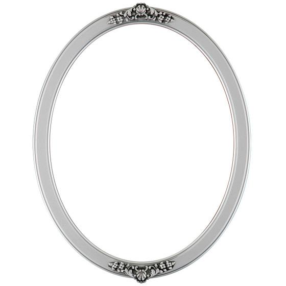Athena Oval Frame # 811 - Silver Spray