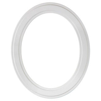Wright Oval Frame # 820 - Linen White