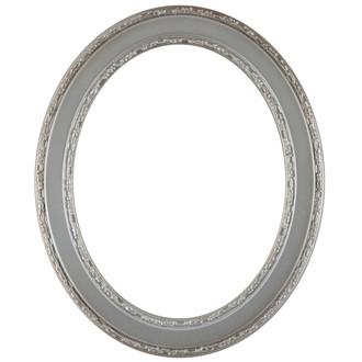Monticello Oval Frame # 822 - Silver Shade