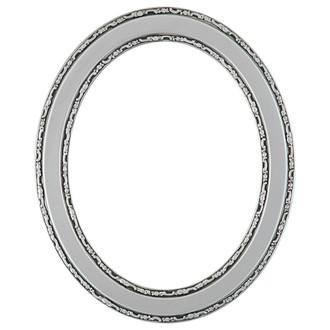 Monticello Oval Frame # 822 - Silver Spray