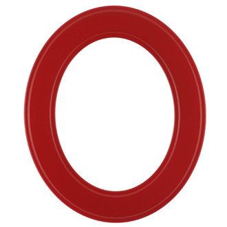 Montreal Oval Frame # 830 - Holiday Red