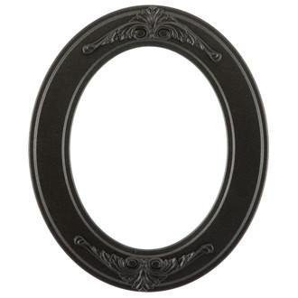 Ramino Oval Frame # 831 - Black Silver