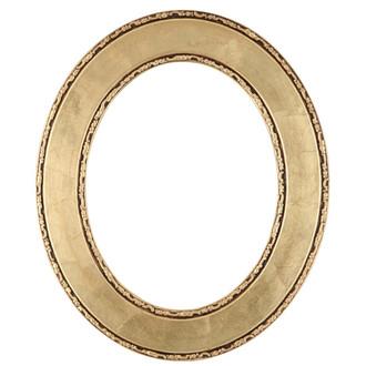Paris Oval Frame # 832 - Gold Leaf