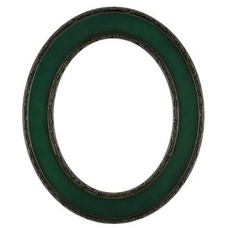 Paris Oval Frame # 832 - Hunter Green