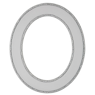 Paris Oval Frame # 832 - Linen White