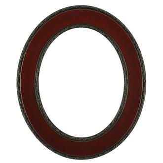 Paris Oval Frame # 832 - Rosewood