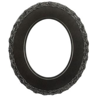 Williamsburg Oval Frame # 844 - Black Silver