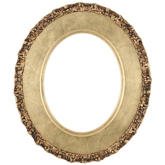 Williamsburg Oval Frame # 844 - Gold Leaf