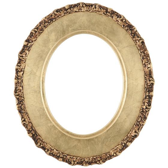 Williamsburg Oval Frame # 844 - Gold Leaf
