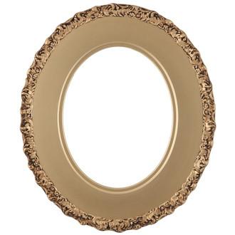 Williamsburg Oval Frame # 844 - Gold Spray