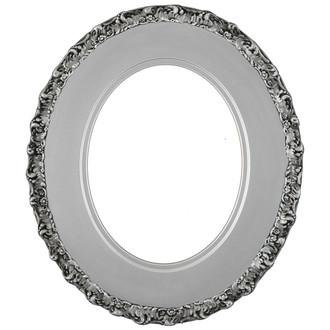 Williamsburg Oval Frame # 844 - Silver Spray