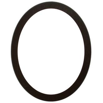Manhattan Oval Frame # 851 - Black Silver
