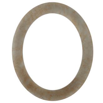 Soho Oval Frame # 852 - Burnished Silver